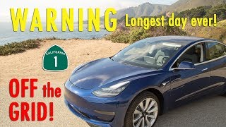 Off the Grid -Tesla Model 3 - Pacific Coast Highway 1!