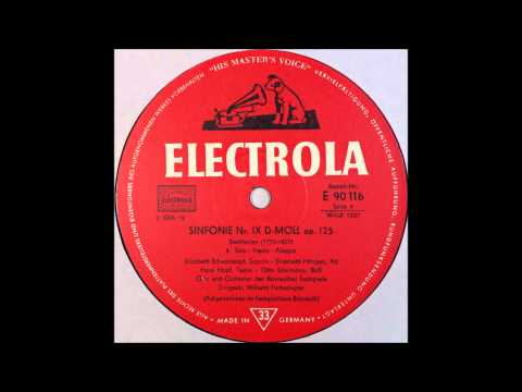 Beethoven, IX Sinfonie D Moll Op 125 , 4thmov, Furtwangler
