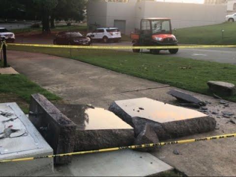 Facebook Video Shows Man Smashing Monument
