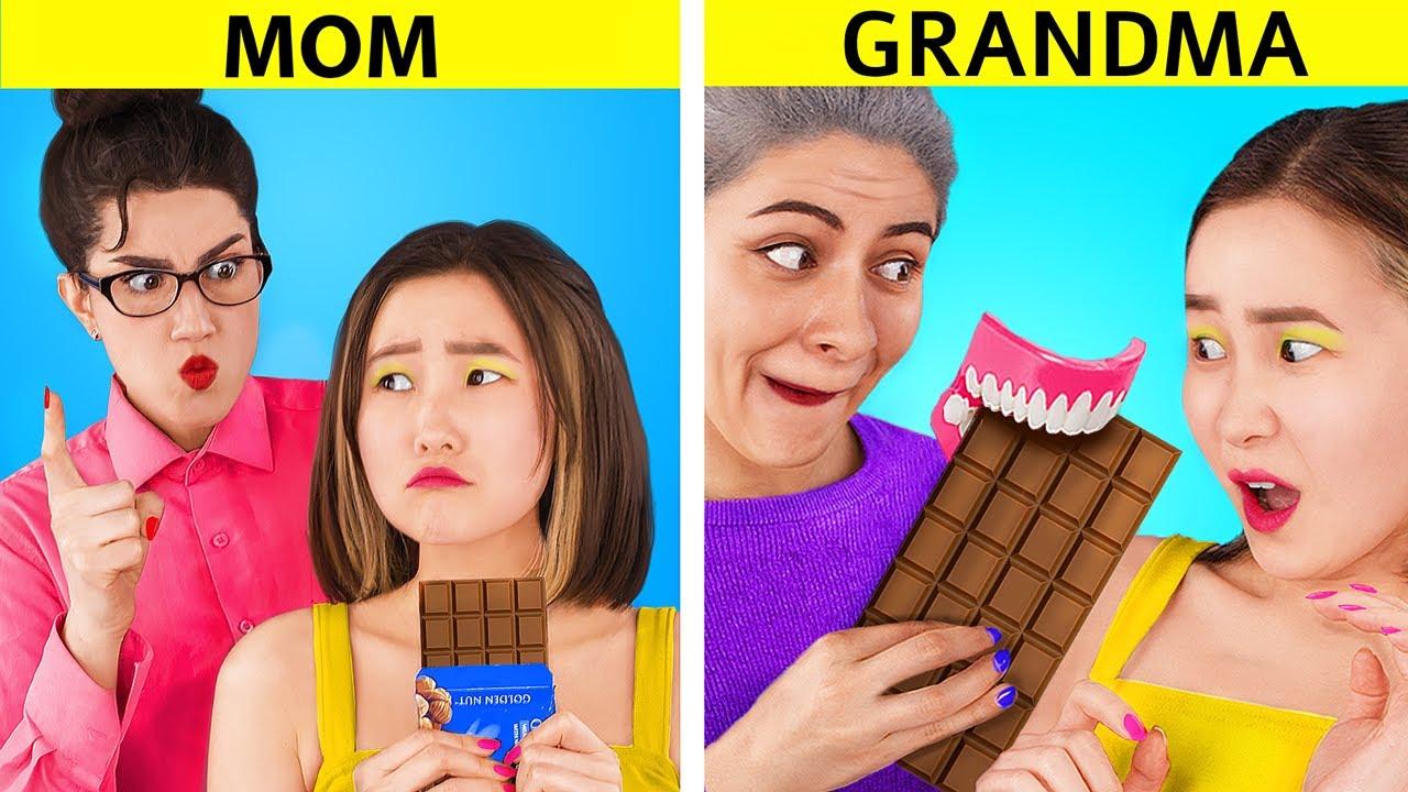 Mamãe vs Vovó! Coisas Engraçadas Que Sua Avó Faz