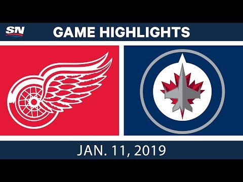 NHL Highlights | Red Wings vs. Jets - Jan. 11, 2019