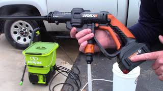 Worx Hydroshot - Tips To Longer Working Time & Pressure
