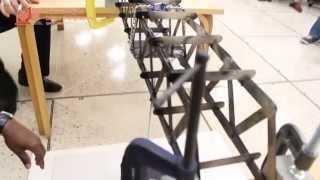 Qatar University - The Opening Ceremony 1st High School Wooden Bridge Contest 2013