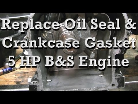 How to Replace Crankshaft Oil Seal and Crankcase Gasket on 5 HP Briggs (similar on any small engine)