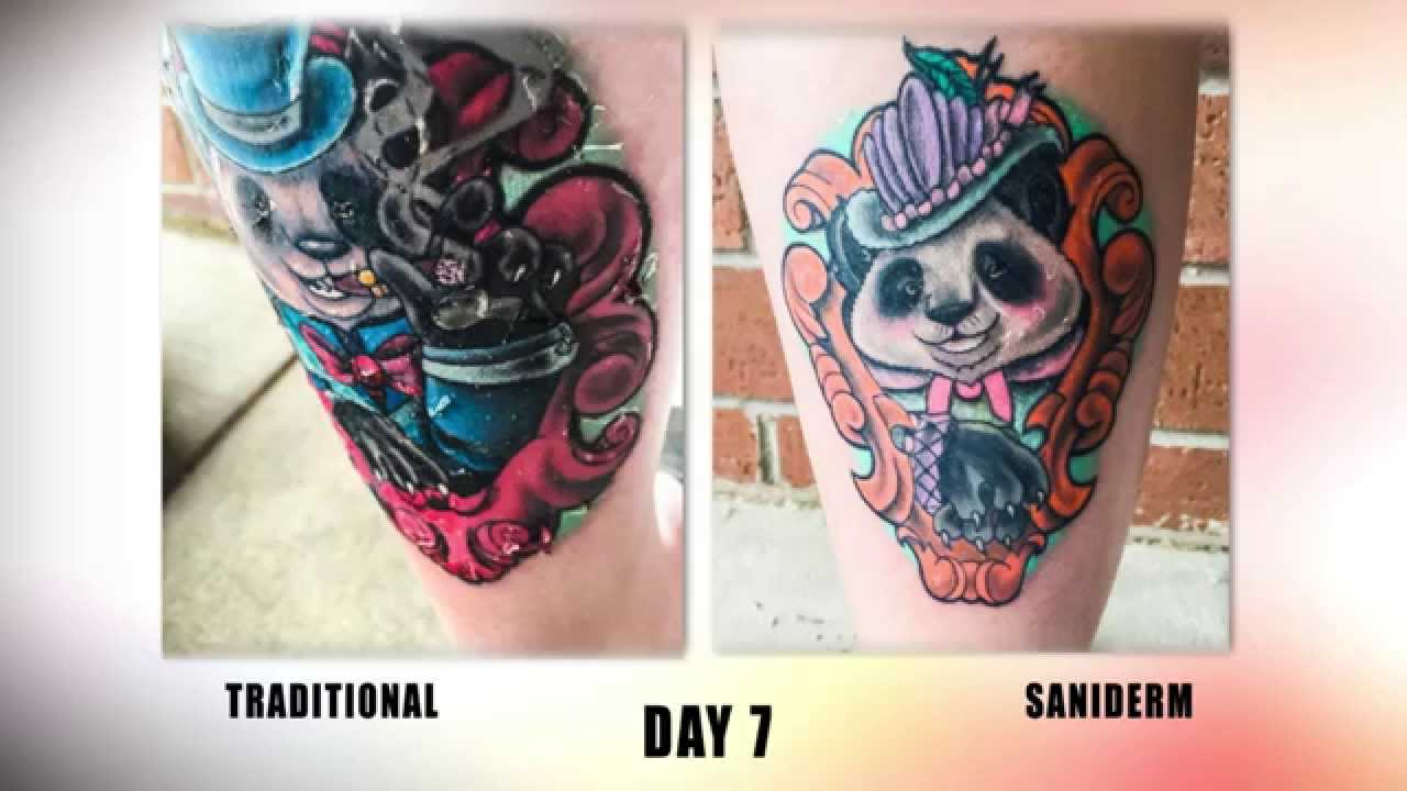 The Saniderm Tattoo Aftercare Challenge Youtube
