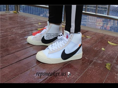 OFF WHITE X NIKE BLAZER MID REVIEW AND ON FOOT !!!Unboxing