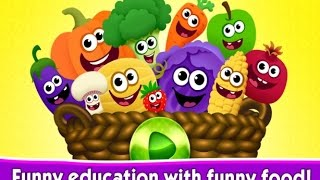 Funny Food Games for Toddlers! - Learning Fruit and Veggies - Education Children games / Android