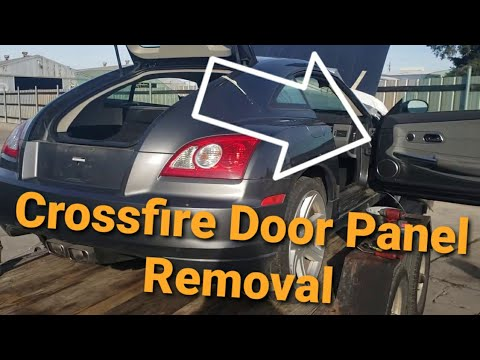 Chrysler Crossfire Right Door Panel Removal Youtube