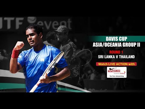 Sri Lanka v Thailand - Davis Cup Group II - Day 1