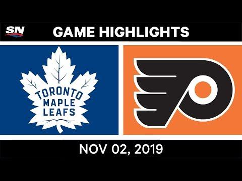 NHL Highlights | Maple Leafs Vs Flyers – Nov. 2, 2019