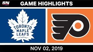 NHL Highlights   Maple Leafs vs Flyers – Nov. 2, 2019