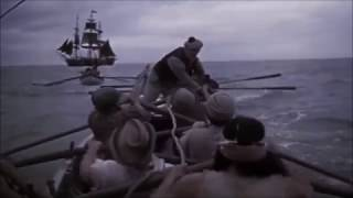The longboats of the whaling ship Pequod give chase to quarry
