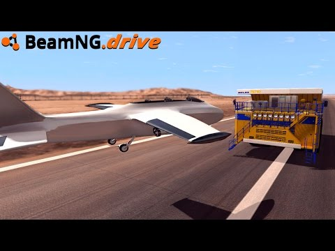 BeamNG.drive - JET CRASH