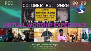 October 25: 2020: Virtual Worship Experience