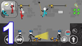Stickman Escape: Prison Break - Gameplay Walkthrough Part 1 All Levels 1-16 (Android, iOS) screenshot 4