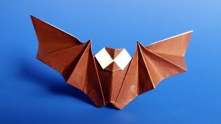 Easy Origami Bat Tutorial for Halloween