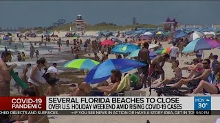 Some Florida beaches to close July 4th weekend as COVID-19 cases soar