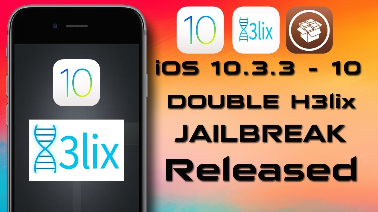 NEW DoubleH3lix JAILBREAK (64-Bit iOS 10 3 3/10 - STABLE WITH CYDIA) by  DudetECH
