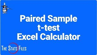 8.3.17 Paired samples t-test: Excel simple calculator