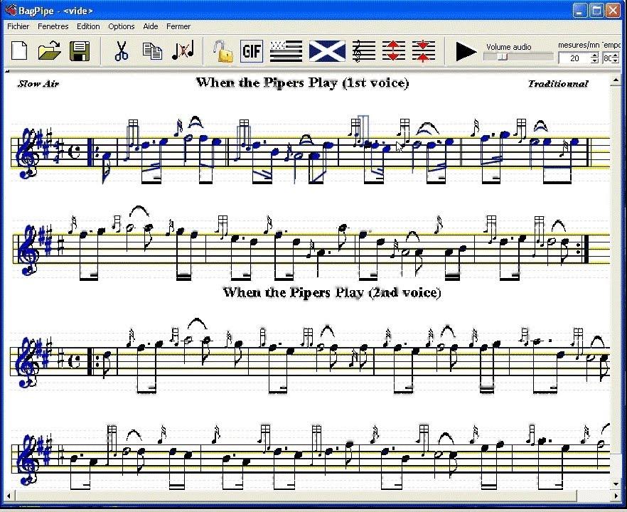 BagPipe software - tutorial - GIF music sheet digitalization