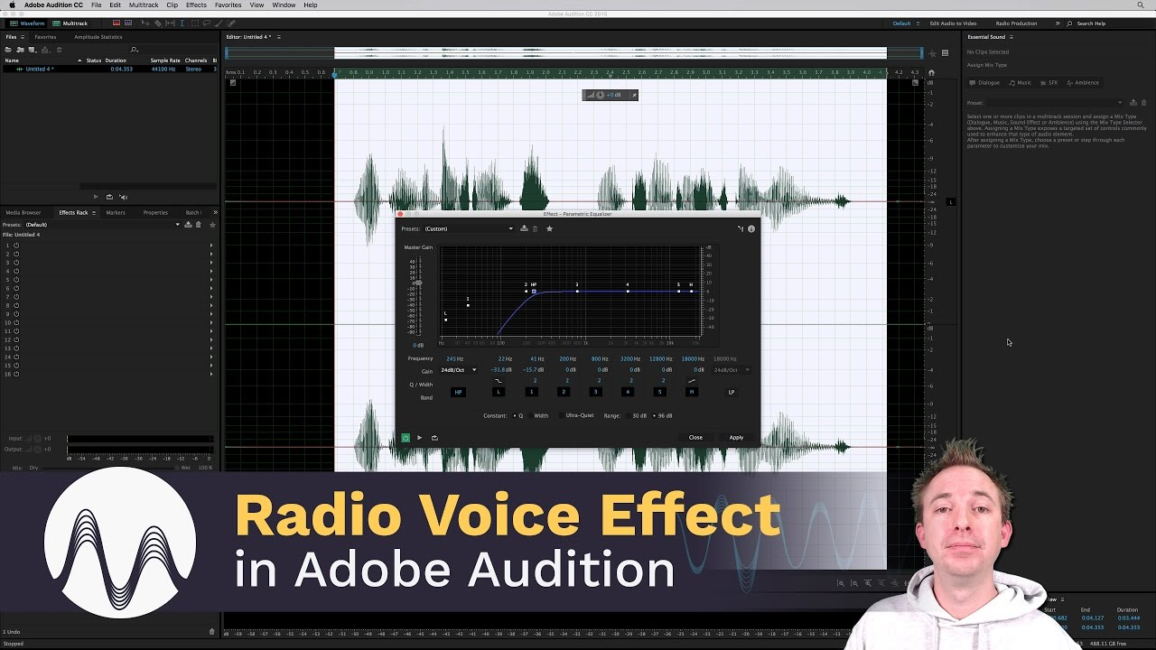how to make voice thin