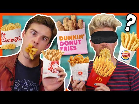 BLINDFOLD FRENCH FRY CHALLENGE w/MatPatGT