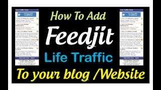 Add feedjit live traffic widget to blog /website
