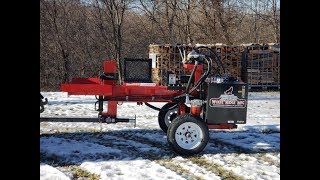 #346 AMAZING COMPACT COMMERCIAL LOG SPLITTER! Wolfe Ridge Manufacturing