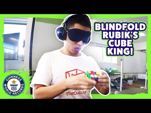 Jack Cai: Fastest Rubik's Cube solved blindfolded! - Meet The Record Breakers