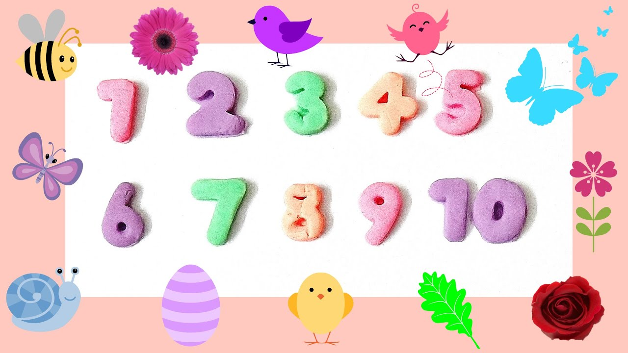 Learn Numbers 1 To 10 Using Play Doh