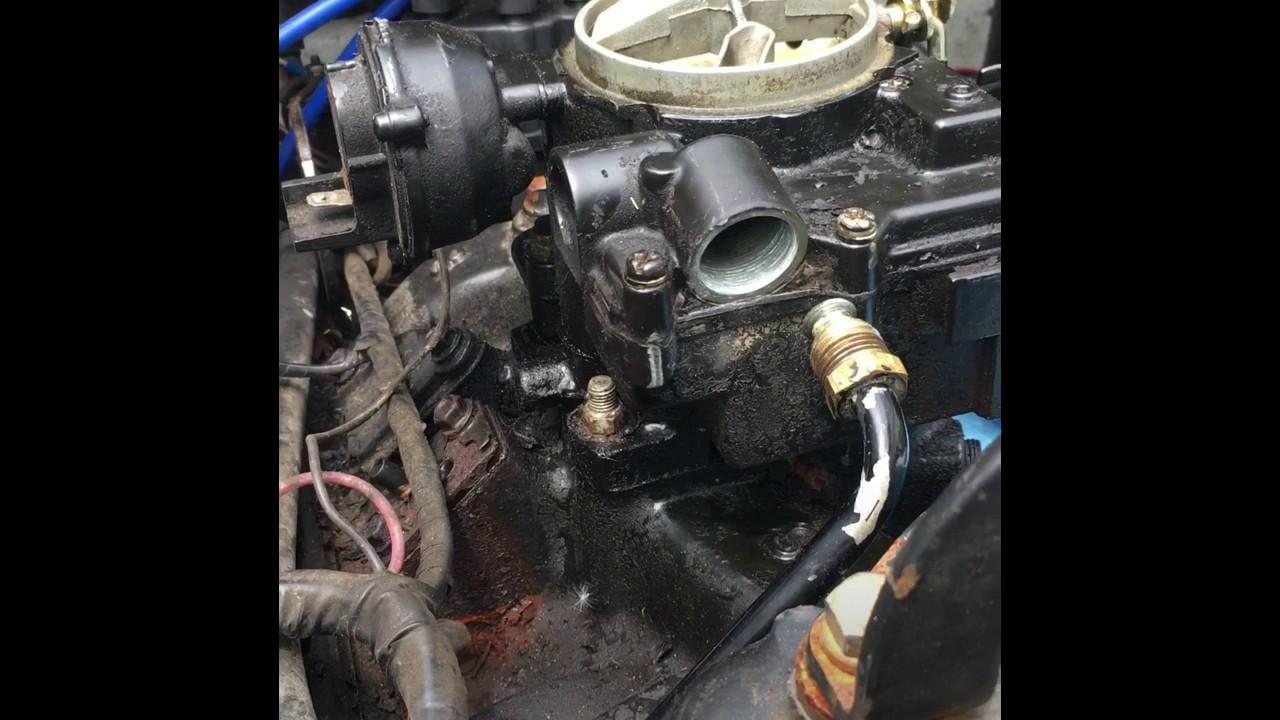 Removing Mercruiser Carburetor