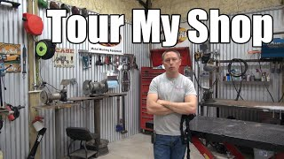 Tour My Badass Mancave Shop - Tools Tools & More Tools