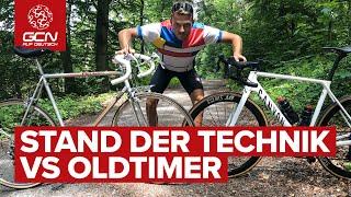 Kampf der Generationen - Alt vs. Neu - Welches Rad ist schneller im GCN Fahrradgenerationen-Test?