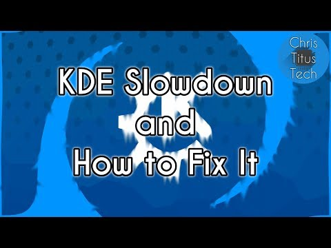 KDE Is Slow !?! | Disable Baloo File Indexer