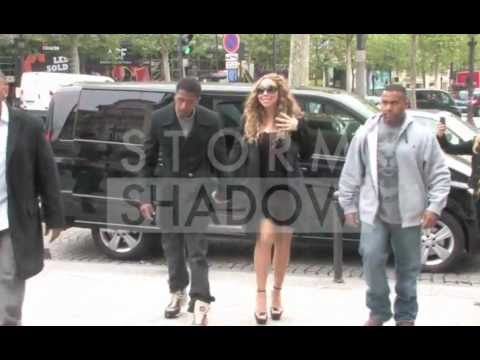 Mariah Carey treated herself with a little Vuitton shopping in Paris
