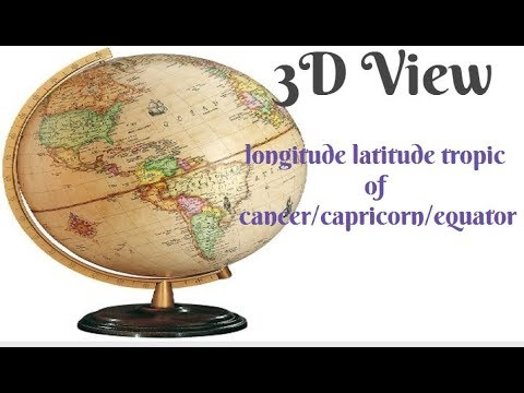 Longitude latitude tropic of cancercapricornequator prime meridian longitude latitude tropic of cancercapricornequator prime meridian with country in 3d gumiabroncs Images