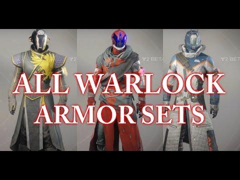 Destiny 2 Beta All Warlock Armor Sets