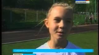 Урок физкультуры в саранской школе провели именитые легкоатлеты