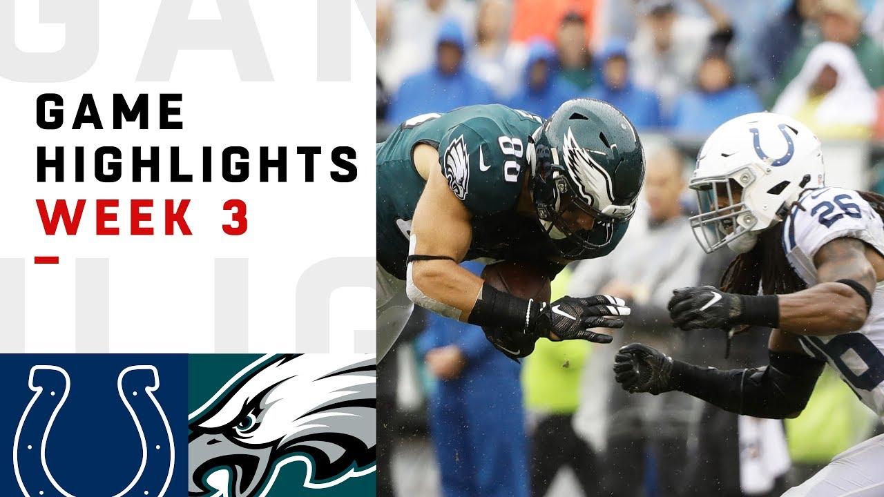 a3c9270b Colts vs. Eagles Week 3 Highlights | NFL 2018