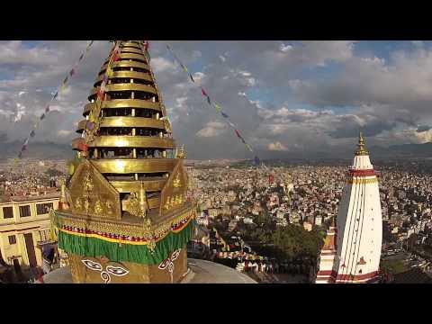 Monkey Temple Dji drone Kathmandu Nepal