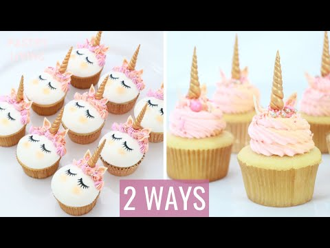 UNICORN CUPCAKES   CUPCAKE IDEAS for UNICORN PARTY