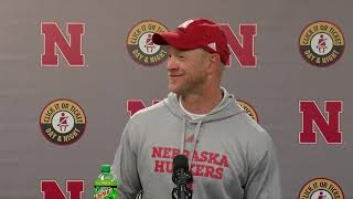 Scott Frost following first win as Nebraska head coach: 'Can't thank the fans enough'