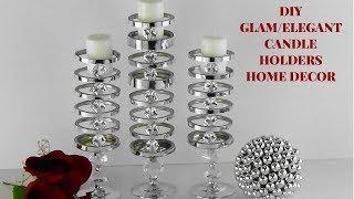 DIY GLAM/ELEGANT CANDLE HOLDERS/HOME DECOR