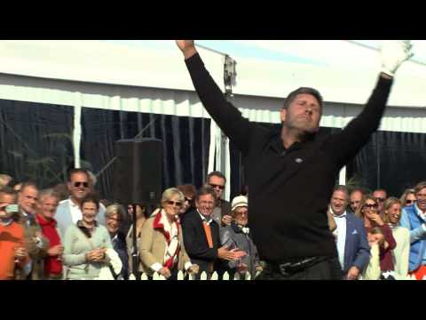 José Maria Olazábal dancing with joy at Kings of Golf