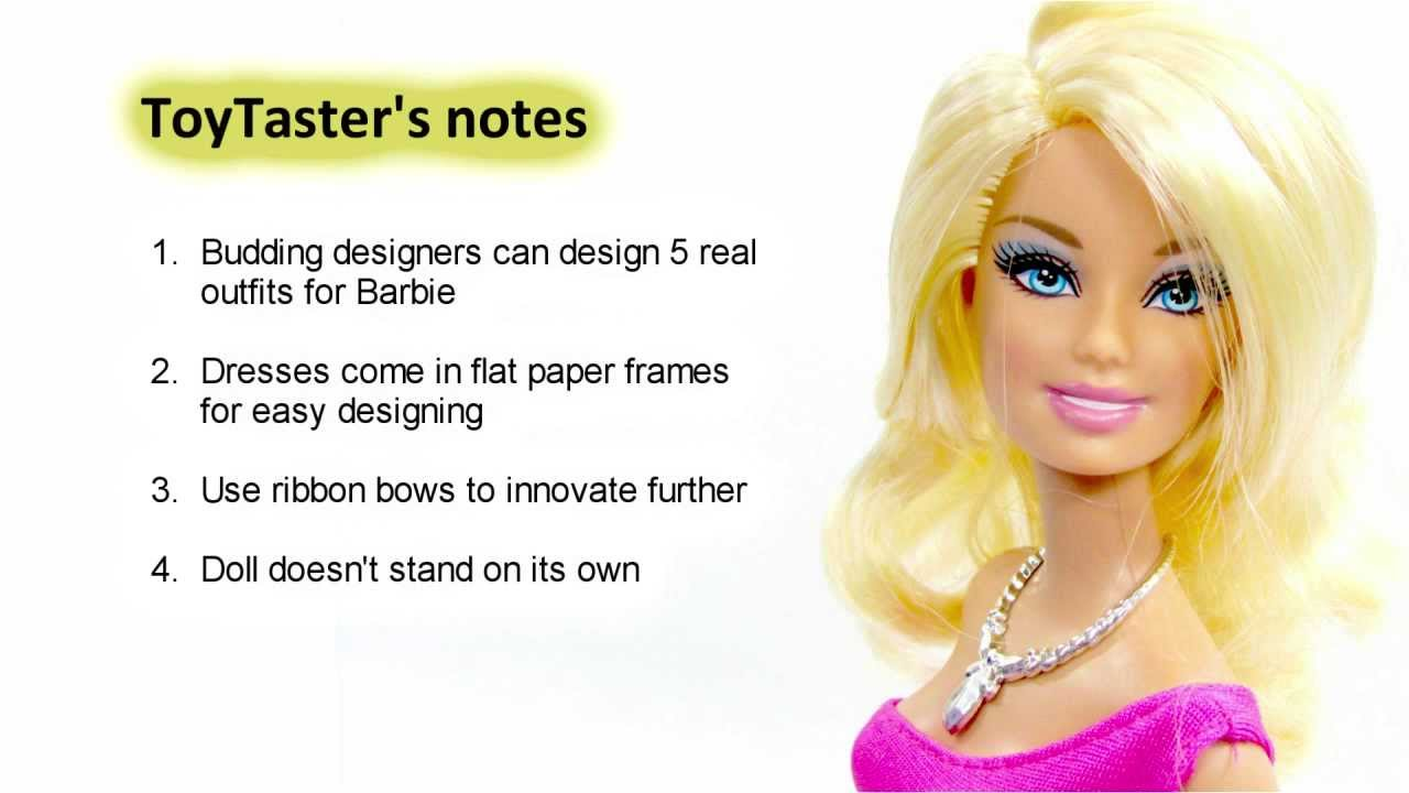 Barbie Toys | Design and Dress Studio Toy Review - YouTube