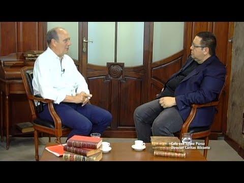 Cafe con Jaime Perez Director de Caritas Alicante