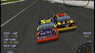 NASCAR 98 Sega Saturn Intro + Gameplay