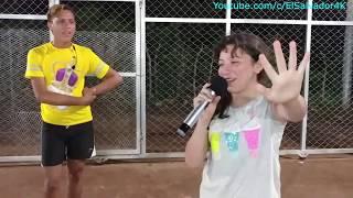 Divertidísimo!!! reto: Emely-Nayeli vs Micky-Monica. Karaoke Corre! Jesse & Joy. Parte 2