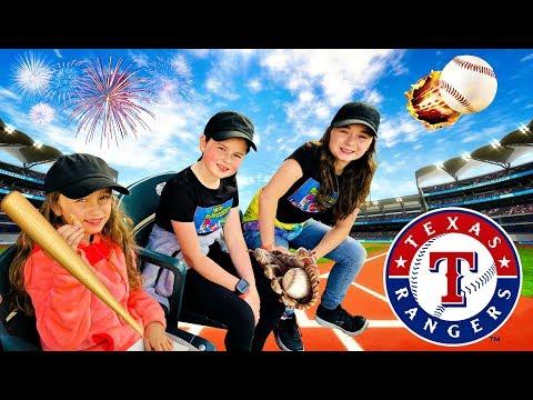 TEXAS RANGERS BASEBALL GAME - Our Day At Ranger Stadium!