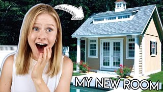 Turning the Pool House Into MY ROOM! *Extreme Room Transformation*